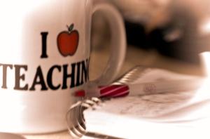 Teacher mug and pen